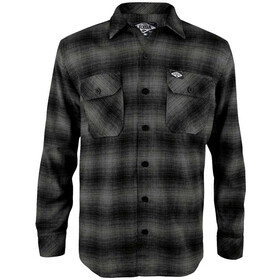 Loose Riders LS Flannel Shirt Men, grey